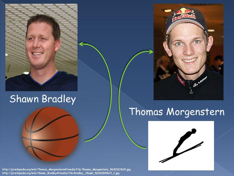 Shawn Bradley http://pl.wikipedia.org/wiki/Shawn_Bradley#/media/File:Bradley,_Shawn_%282008%29_2.jpg Thomas Morgenstern http://pl.wikipedia.org/wiki/Thomas_Morgenstern#/media/File:Thomas_Morgenstern_%282011%29.jpg