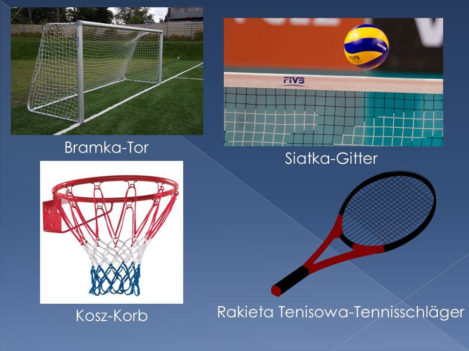 Bramka-Tor Kosz-Korb Siatka-Gitter Rakieta Tenisowa-Tennisschläger