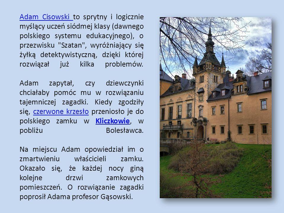 Adam Cisowski Adam Cisowski to sprytny i logicznie myślący uczeń siódmej klasy (dawnego polskiego systemu edukacyjnego), o przezwisku