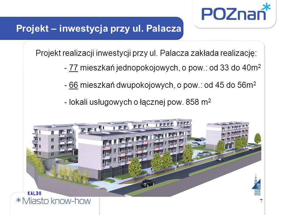 7 Projekt – inwestycja przy ul. Palacza Projekt realizacji inwestycji przy ul.