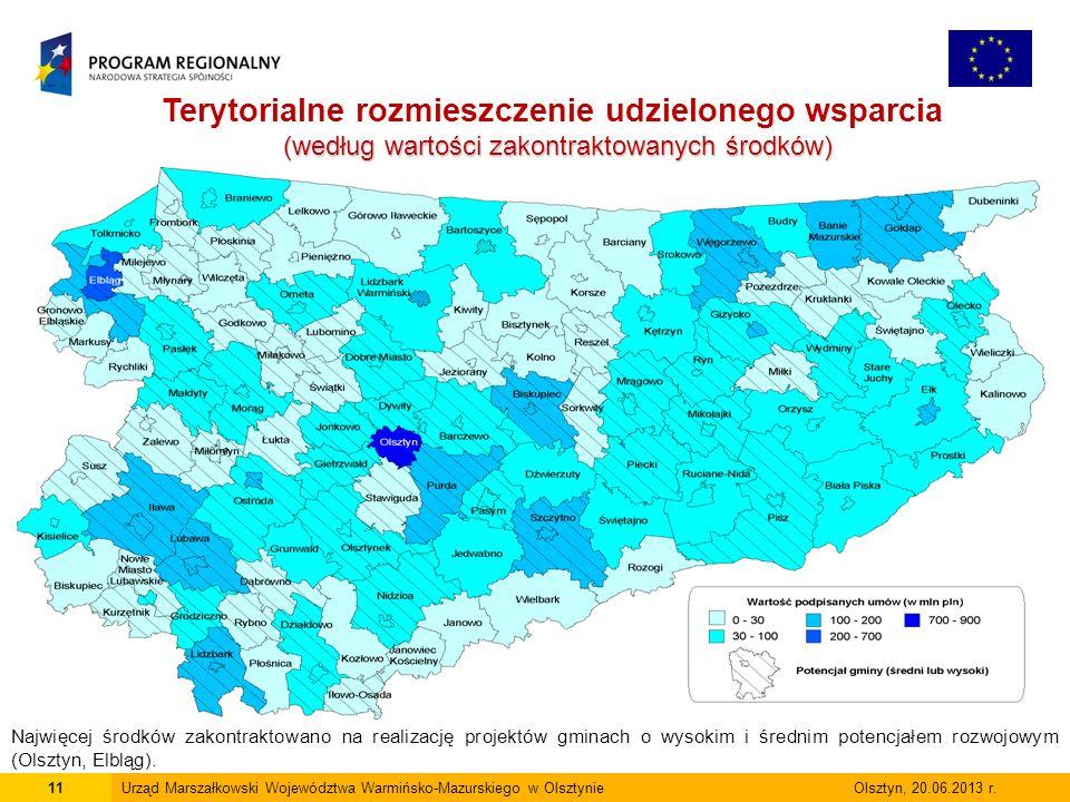 11Urząd Marszałkowski Województwa Warmińsko-Mazurskiego w Olsztynie Olsztyn, 20.06.2013 r.