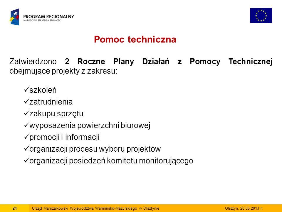 24Urząd Marszałkowski Województwa Warmińsko-Mazurskiego w Olsztynie Olsztyn, 20.06.2013 r.