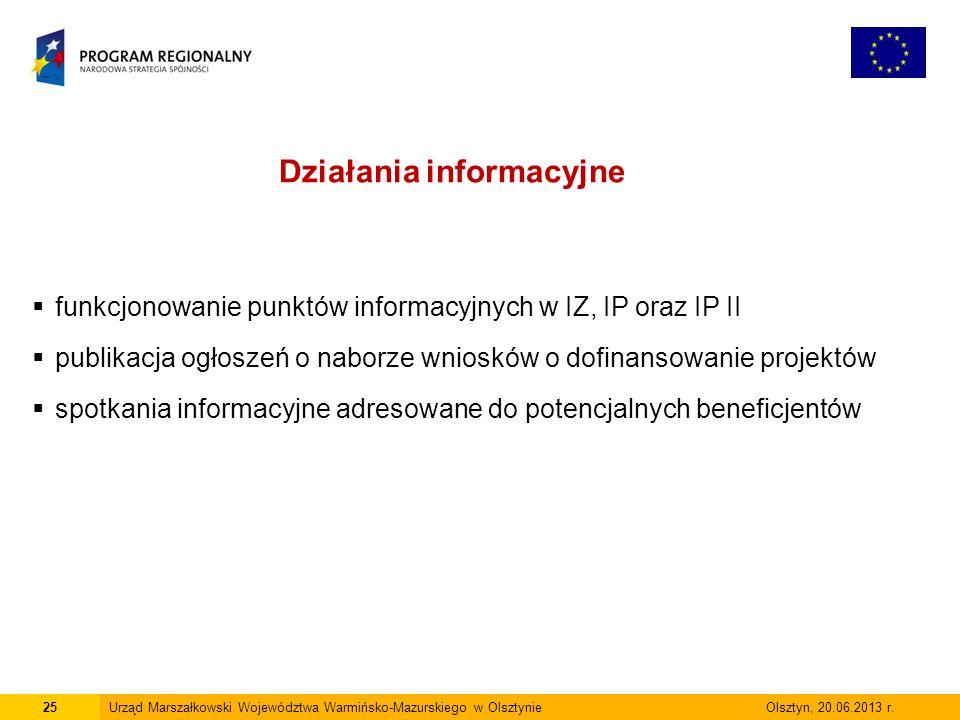 25Urząd Marszałkowski Województwa Warmińsko-Mazurskiego w Olsztynie Olsztyn, 20.06.2013 r.