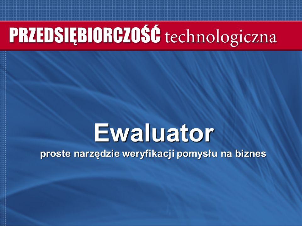 Ewaluator proste narzędzie weryfikacji pomysłu na biznes