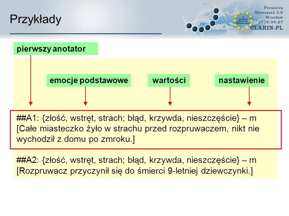 Przykłady Premiera Słowosieć 3.0 Wrocław 2016-04-27 CLARIN-PL rozpruwacz 1 (os) pot.