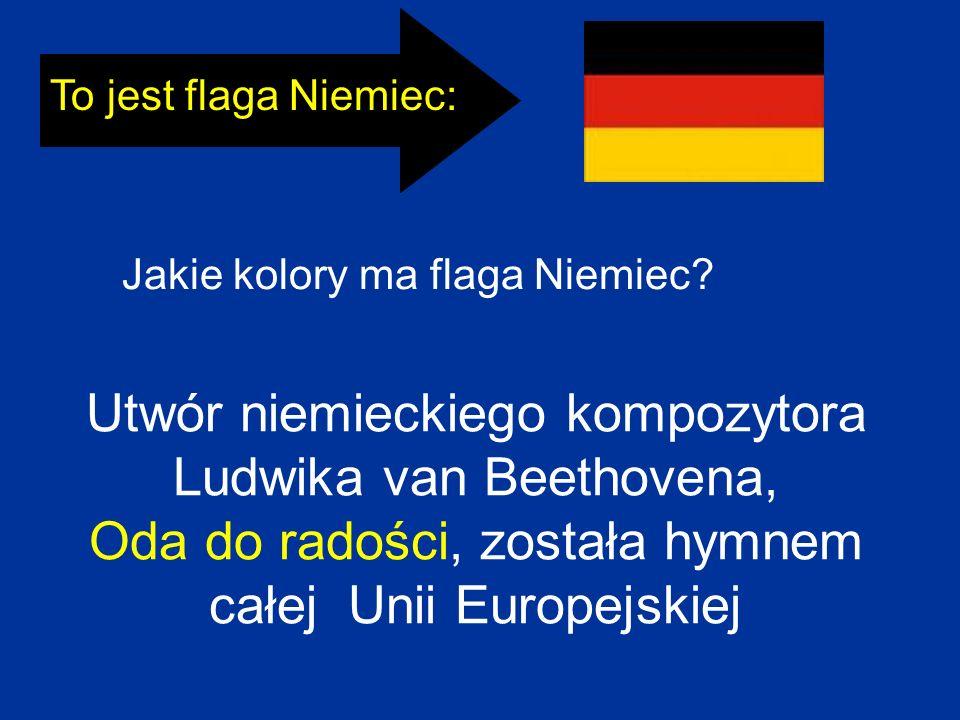 To jest flaga Niemiec: Jakie kolory ma flaga Niemiec.