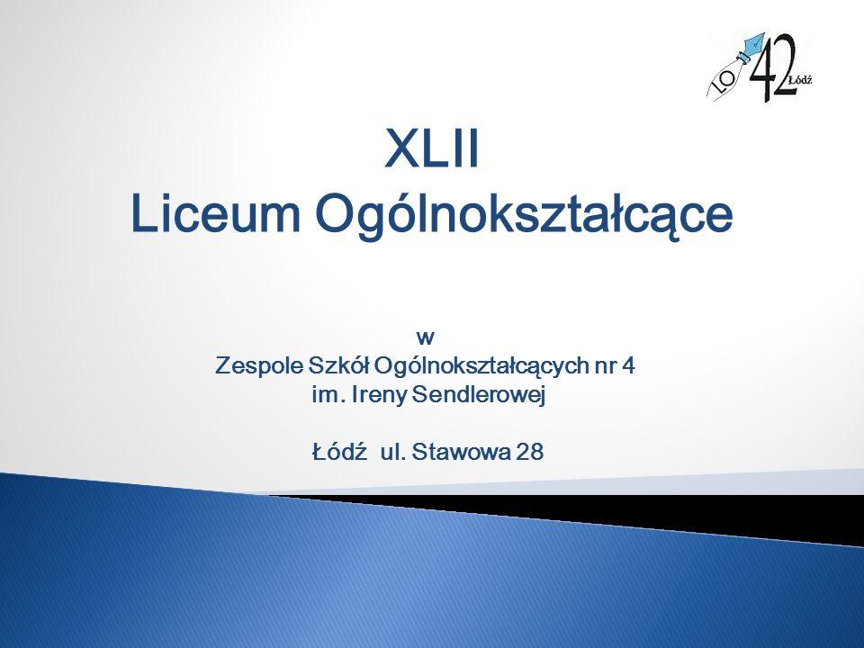 XLII Liceum Ogólnokształcące w Zespole Szkół Ogólnokształcących nr 4 im.