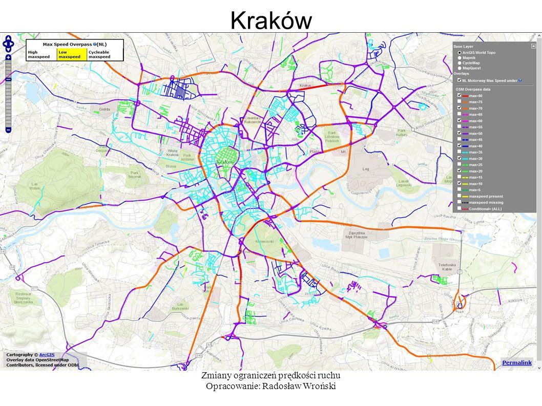Zmiany ograniczeń prędkości ruchu Opracowanie: Radosław Wroński Kraków