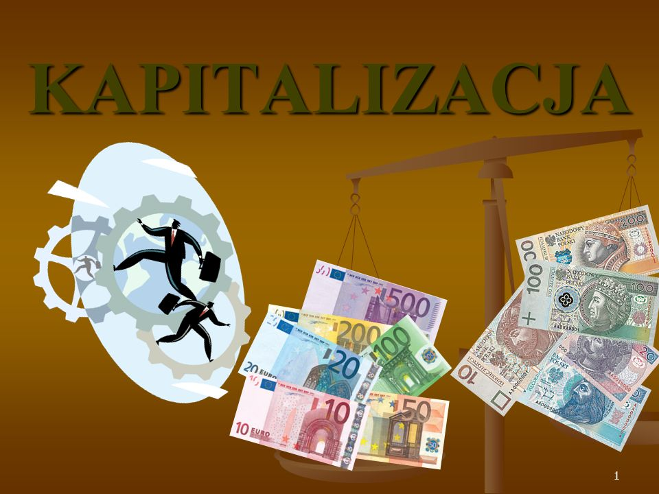 Suma odsetek w kapitalizacji ciągłej K ( t ) – kapitał końcowy po upływie czasu t K o – kapitał początkowy ( wysokość wkładu pieniężnego złożonego do banku ) złożonego do banku ) e – podstawa logarytmu naturalnego, e ≈ 2,7183 t – czas mierzony okresami stopy procentowej r [ % ] – stopa procentowa 42
