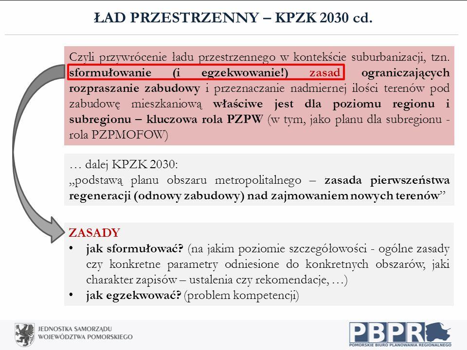 ŁAD PRZESTRZENNY – KPZK 2030 cd.