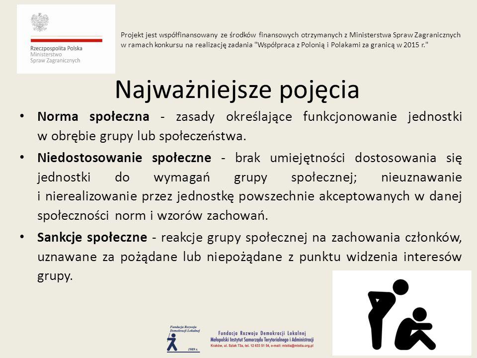 Norma społeczna - zasady określające funkcjonowanie jednostki w obrębie grupy lub społeczeństwa.