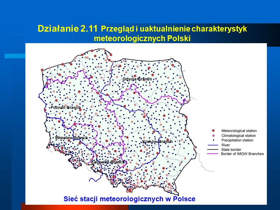 The classification of pluvial conditions in particular month according to percentile classification 2001 YEAR 2003 YEAR Variability of pluvial conditions in Poland