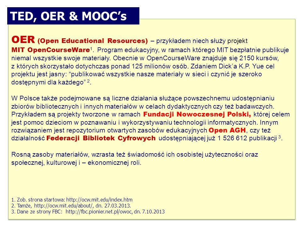 OER (Open Educational Resources) – przykładem niech służy projekt MIT OpenCourseWare 1.