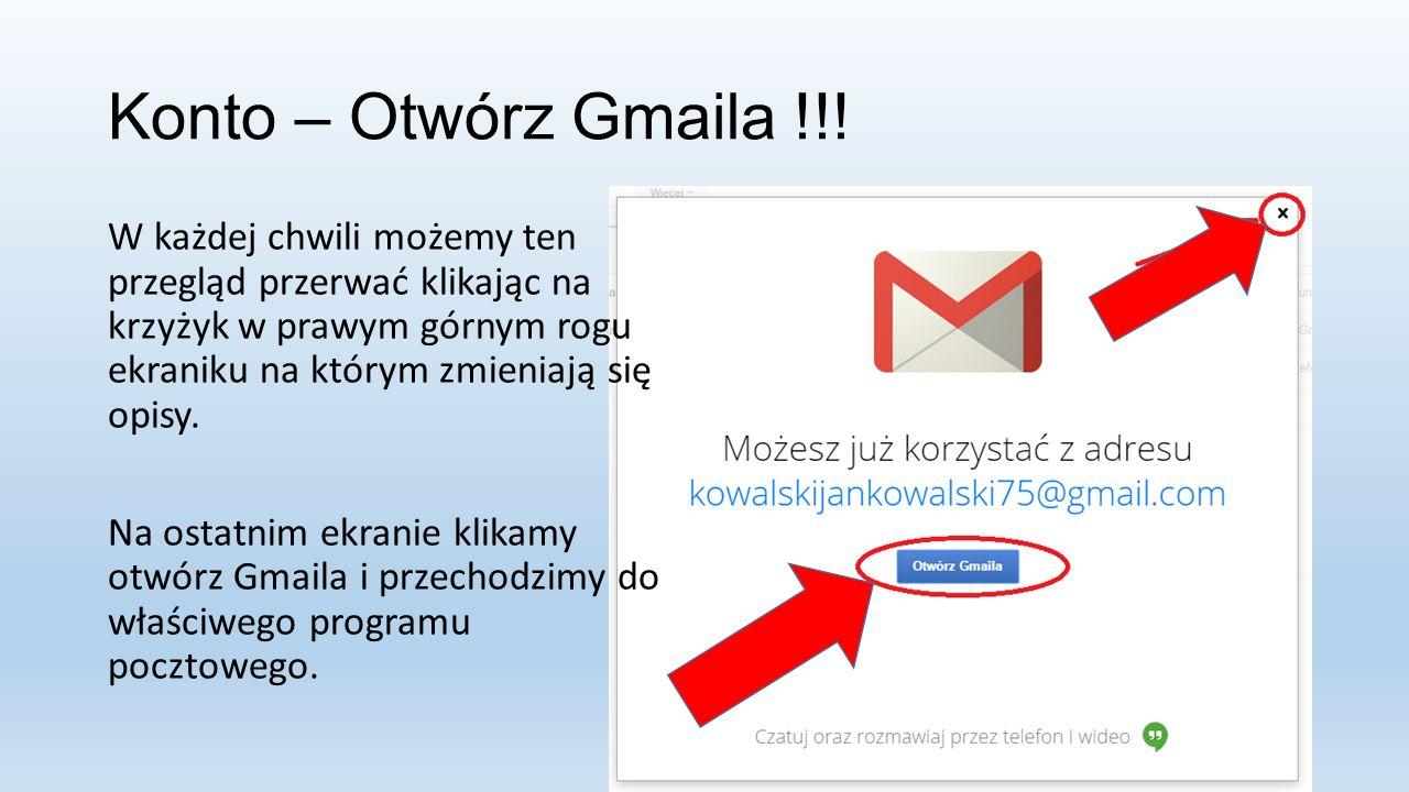 Konto – Otwórz Gmaila !!.