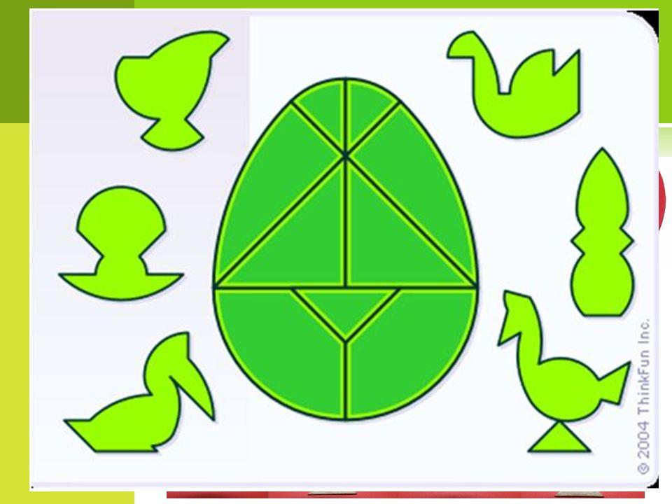 J AJKO KOLUMBA - ŁAMIGŁÓWKA Jajko Kolumba to układanka, uważana za wariant tangramu. Składa się z dziewięciu części:  trzech równoramiennych trójkątó