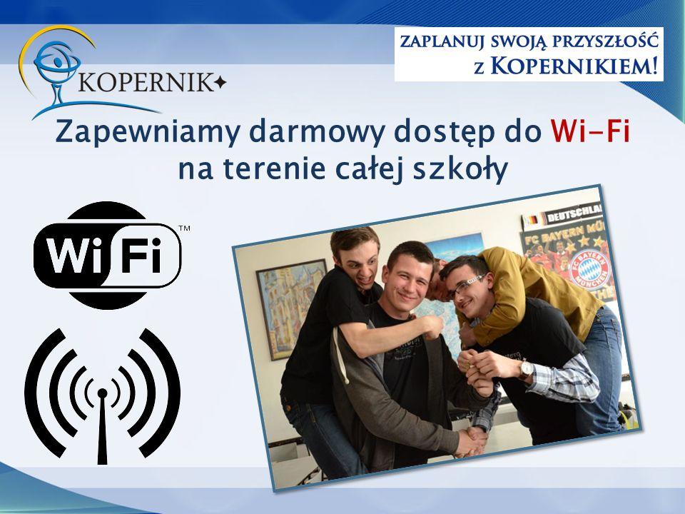 Zapewniamy darmowy dostęp do Wi-Fi na terenie całej szkoły