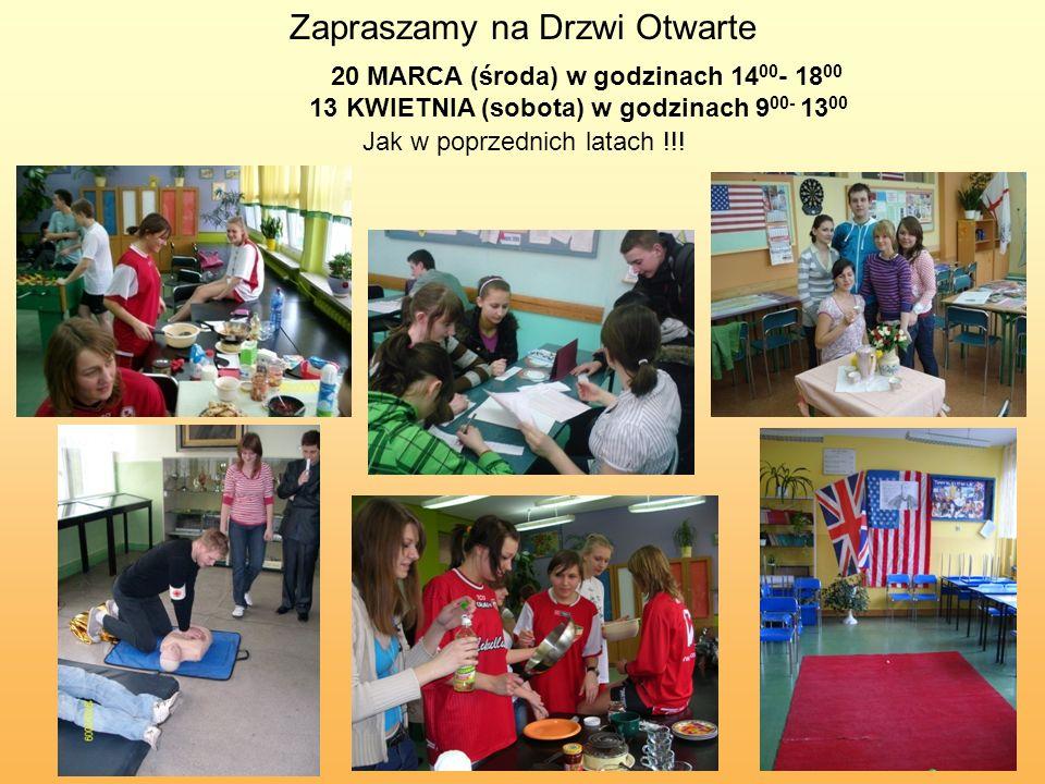 Zapraszamy na Drzwi Otwarte Jak w poprzednich latach !!.