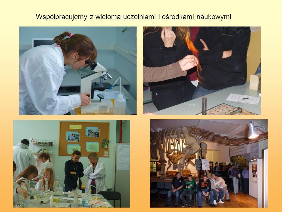 Współpracujemy z wieloma uczelniami i ośrodkami naukowymi