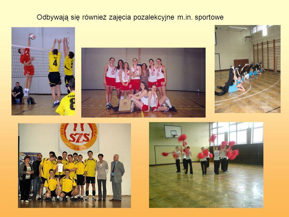 Odbywają się również zajęcia pozalekcyjne m.in. sportowe