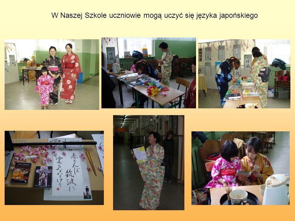 W Naszej Szkole uczniowie mogą uczyć się języka japońskiego