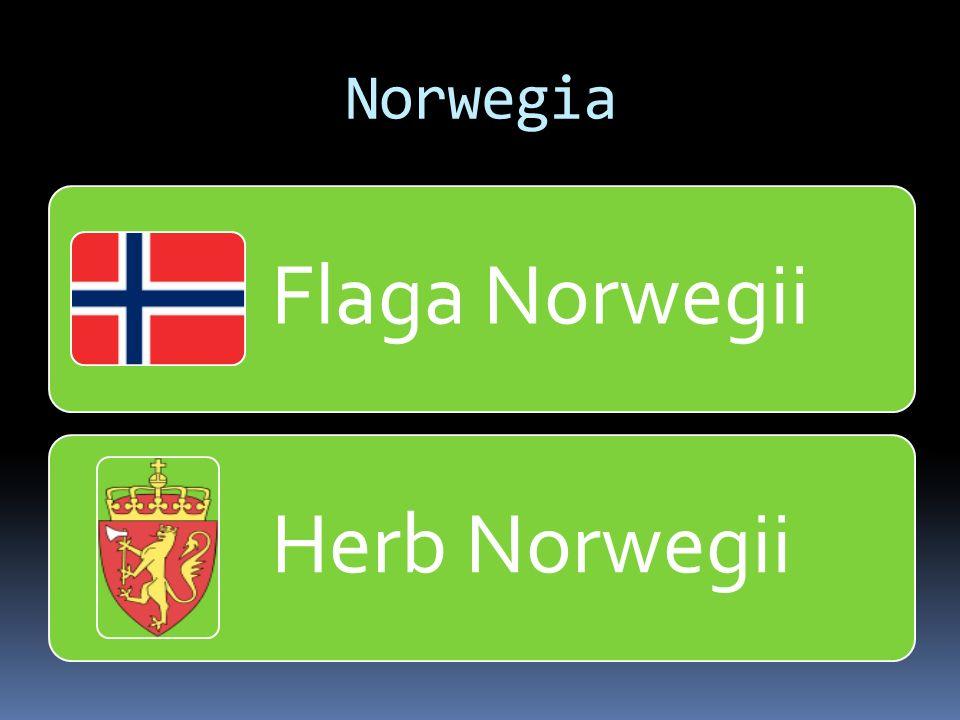 Norwegia Flaga Norwegii Herb Norwegii