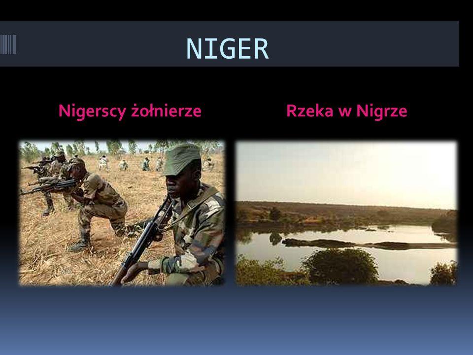 NIGER Nigerscy żołnierzeRzeka w Nigrze