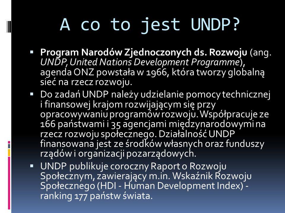 A co to jest UNDP. Program Narodów Zjednoczonych ds.