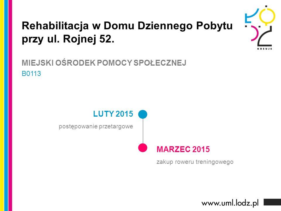 LUTY 2015 postępowanie przetargowe MARZEC 2015 zakup roweru treningowego Rehabilitacja w Domu Dziennego Pobytu przy ul.