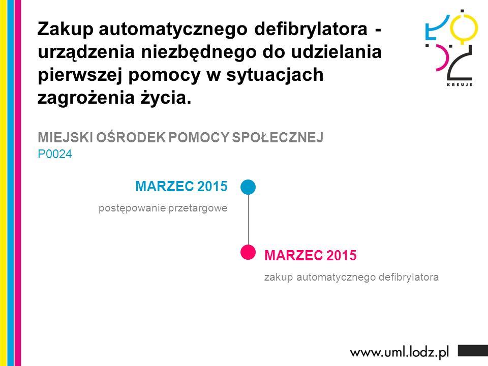 MARZEC 2015 postępowanie przetargowe MARZEC 2015 zakup automatycznego defibrylatora Zakup automatycznego defibrylatora - urządzenia niezbędnego do udzielania pierwszej pomocy w sytuacjach zagrożenia życia.