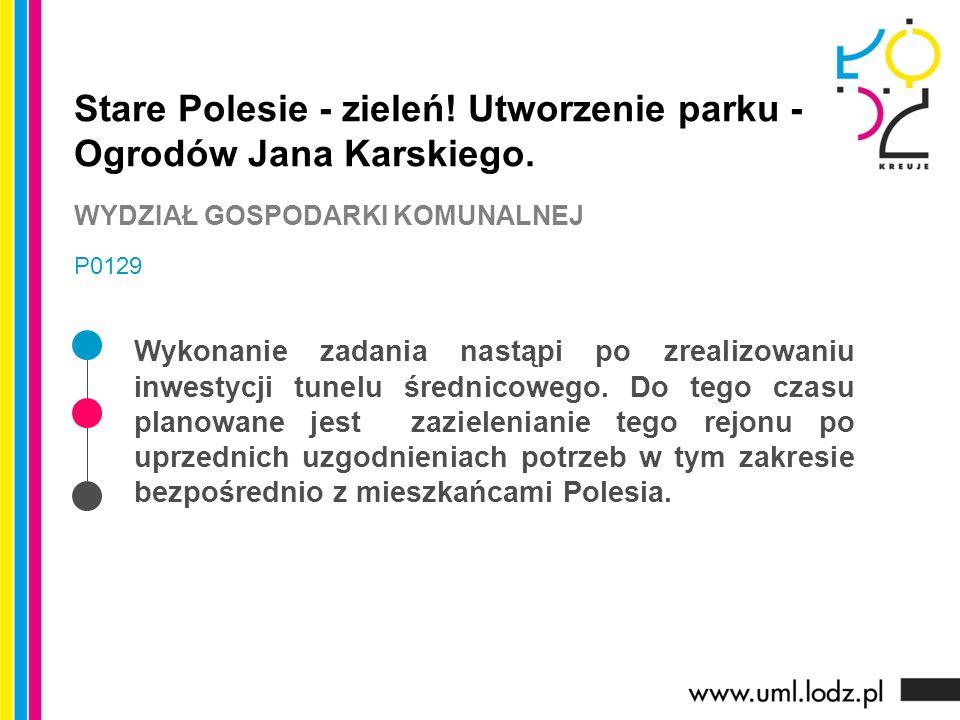 Stare Polesie - zieleń. Utworzenie parku - Ogrodów Jana Karskiego.