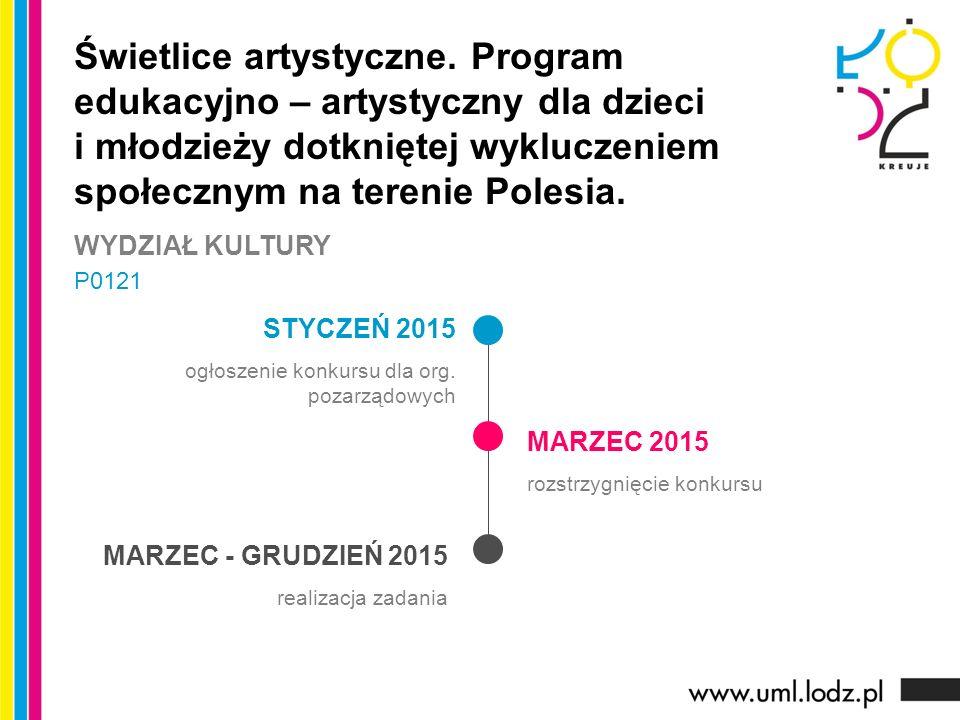 STYCZEŃ 2015 ogłoszenie konkursu dla org.