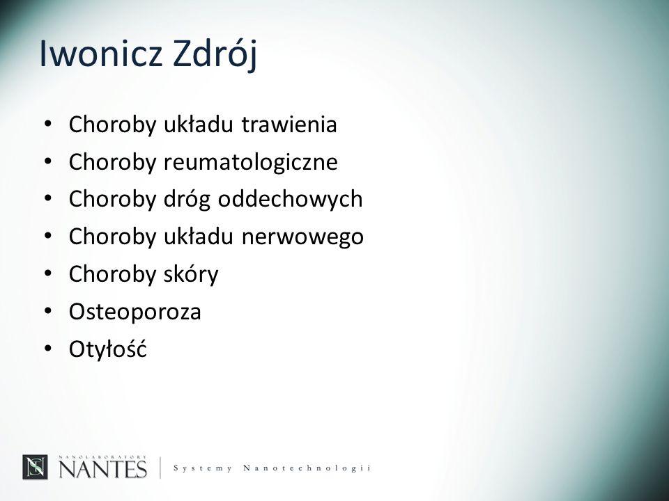 Iwonicz Zdrój Choroby układu trawienia Choroby reumatologiczne Choroby dróg oddechowych Choroby układu nerwowego Choroby skóry Osteoporoza Otyłość