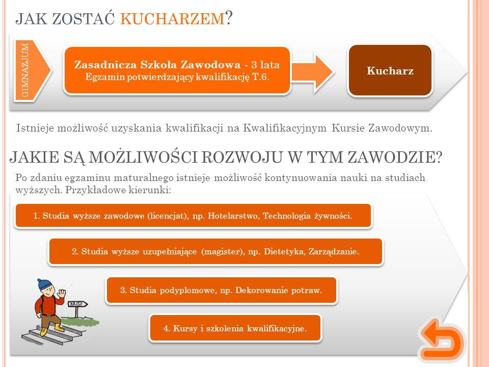 Istnieje możliwość uzyskania kwalifikacji na Kwalifikacyjnym Kursie Zawodowym.
