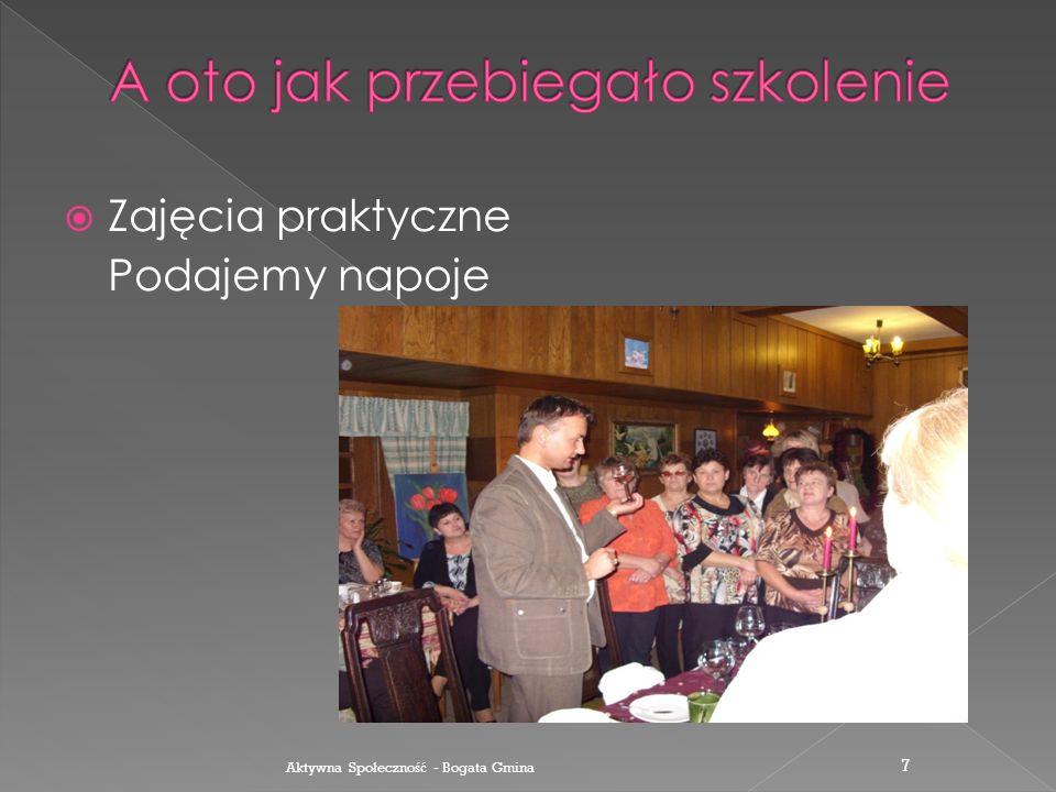  W czasie wykładu Aktywna Spo ł eczno ść - Bogata Gmina 6