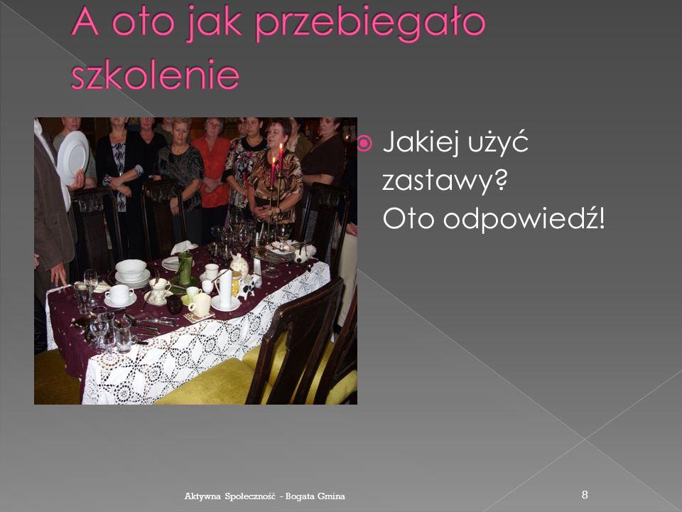  Zajęcia praktyczne Podajemy napoje Aktywna Spo ł eczno ść - Bogata Gmina 7