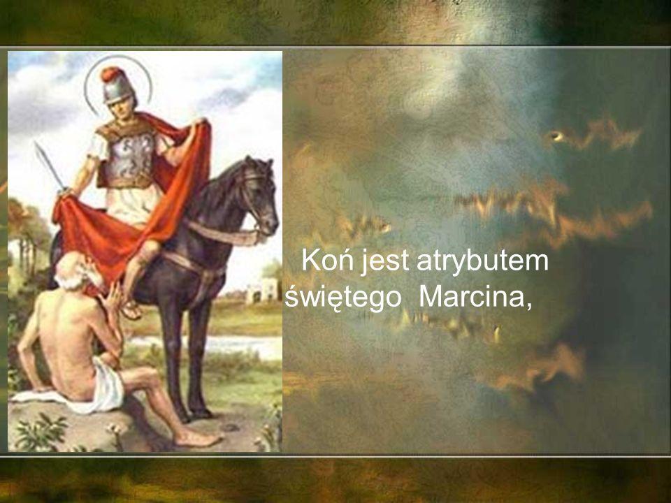 W sztuce, symbolice chrześcijańskiej koń przedstawiać miał słońce, odwagę, hojność; jest atrybutem świętych Marcina, Maurycego, Jerzego i Wiktora (właśnie dlatego przedstawia się ich zwykle na koniu).