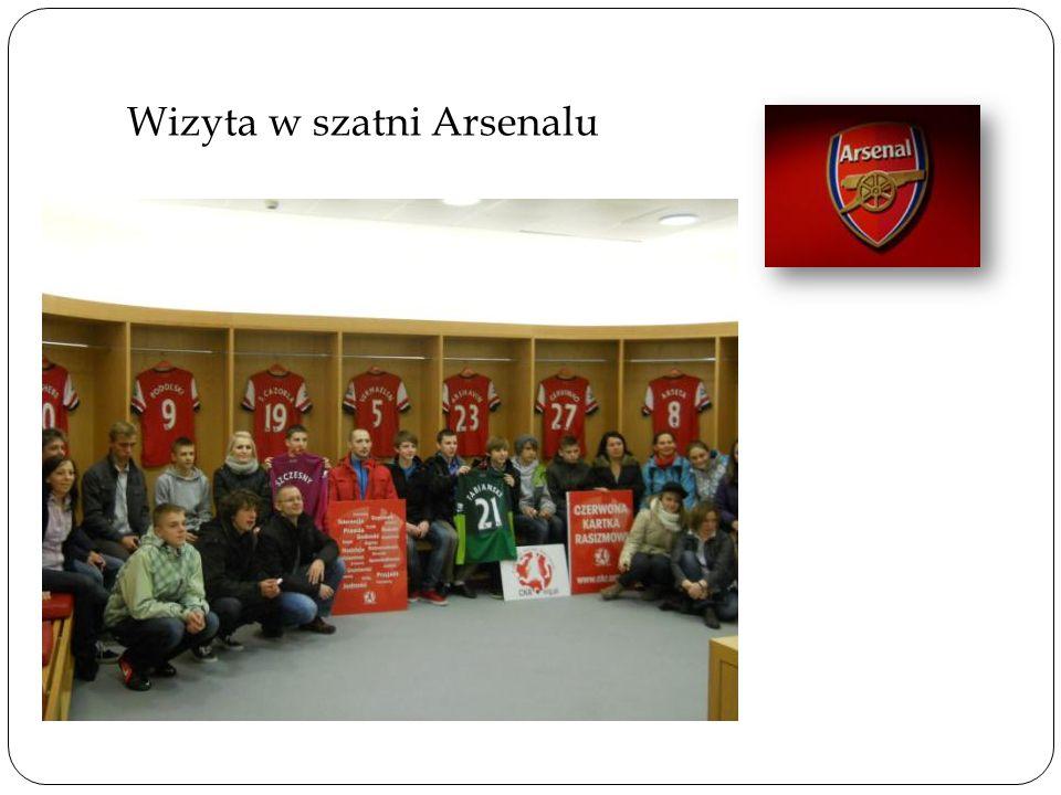 Wizyta w szatni Arsenalu