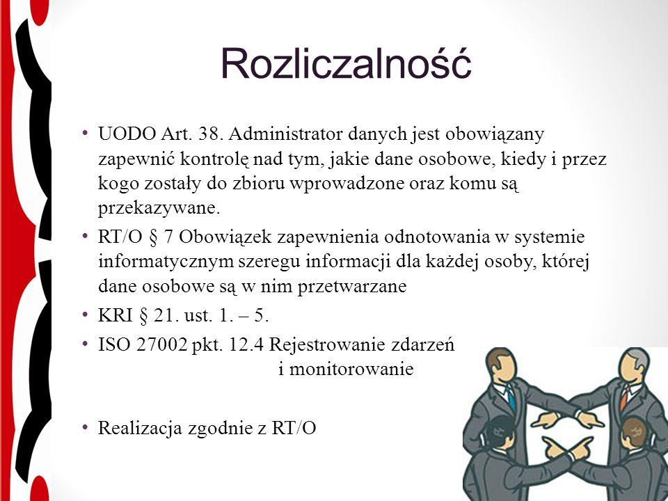 Rozliczalność UODO Art. 38.