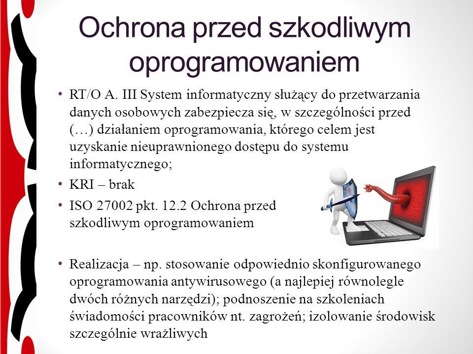 Ochrona przed szkodliwym oprogramowaniem RT/O A.