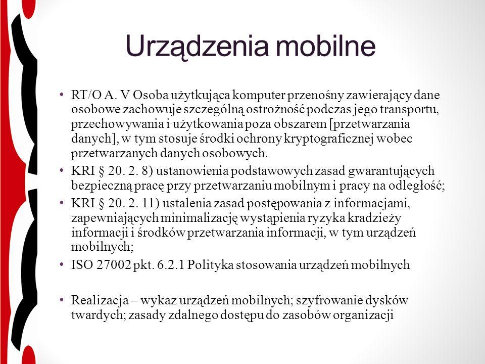 Urządzenia mobilne RT/O A.