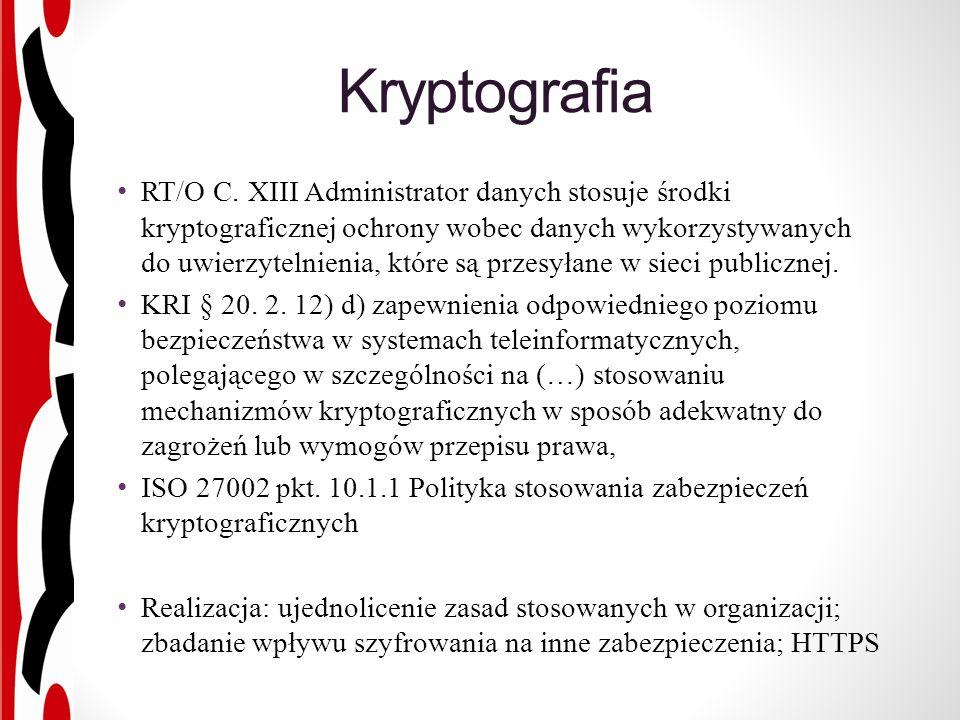 Kryptografia RT/O C.