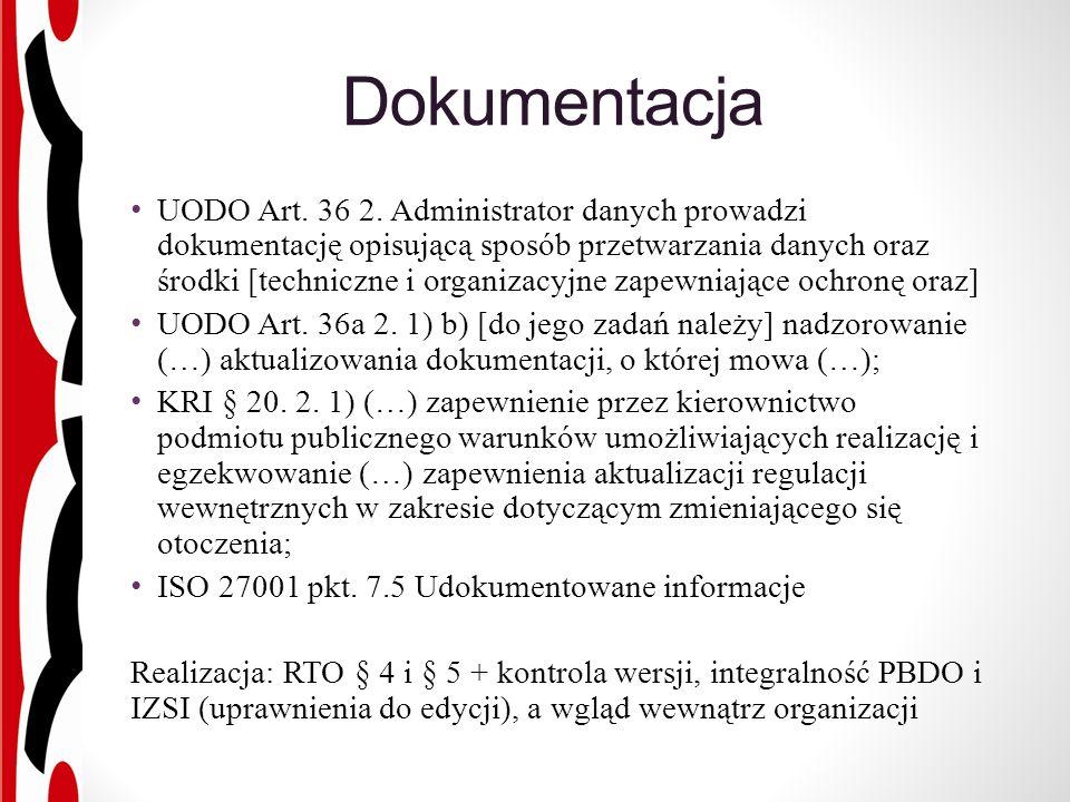 Dokumentacja UODO Art. 36 2.
