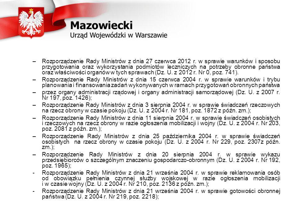 –Rozporządzenie Rady Ministrów z dnia 27 czerwca 2012 r.