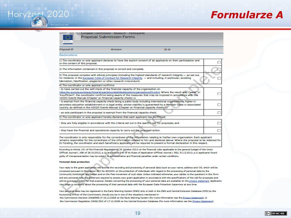 19 Formularze A