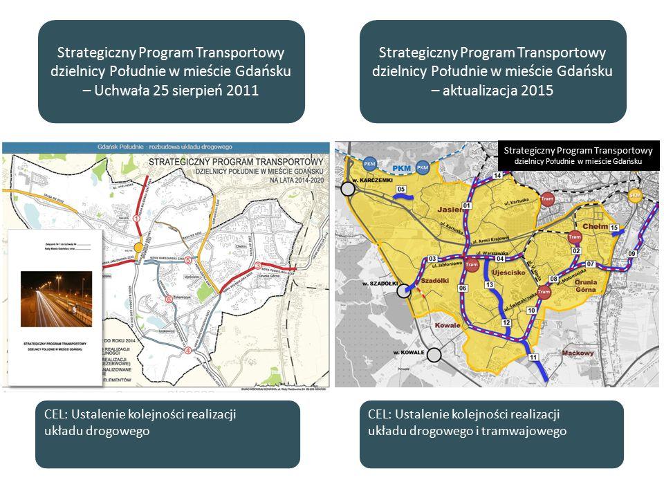 Wyniki analizy realizacji układu drogowego i tramwajowego – aktualizacja SPT 2015 [Istotność %] 1 2 3 Wyniki