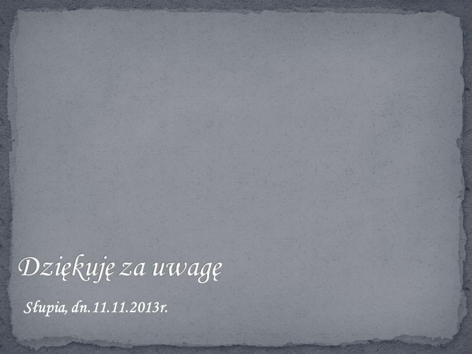 Słupia, dn.11.11.2013r.