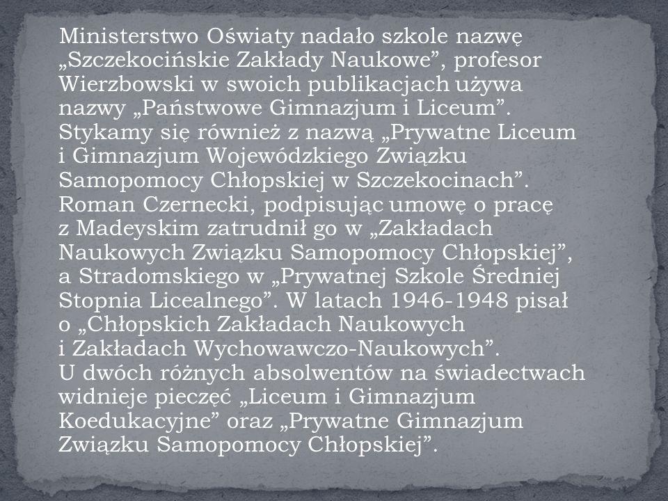 Wśród powojennych dyrektorów szkoły średniej w Szczekocinach szczególne miejsce zajmuje Roman Czernecki.