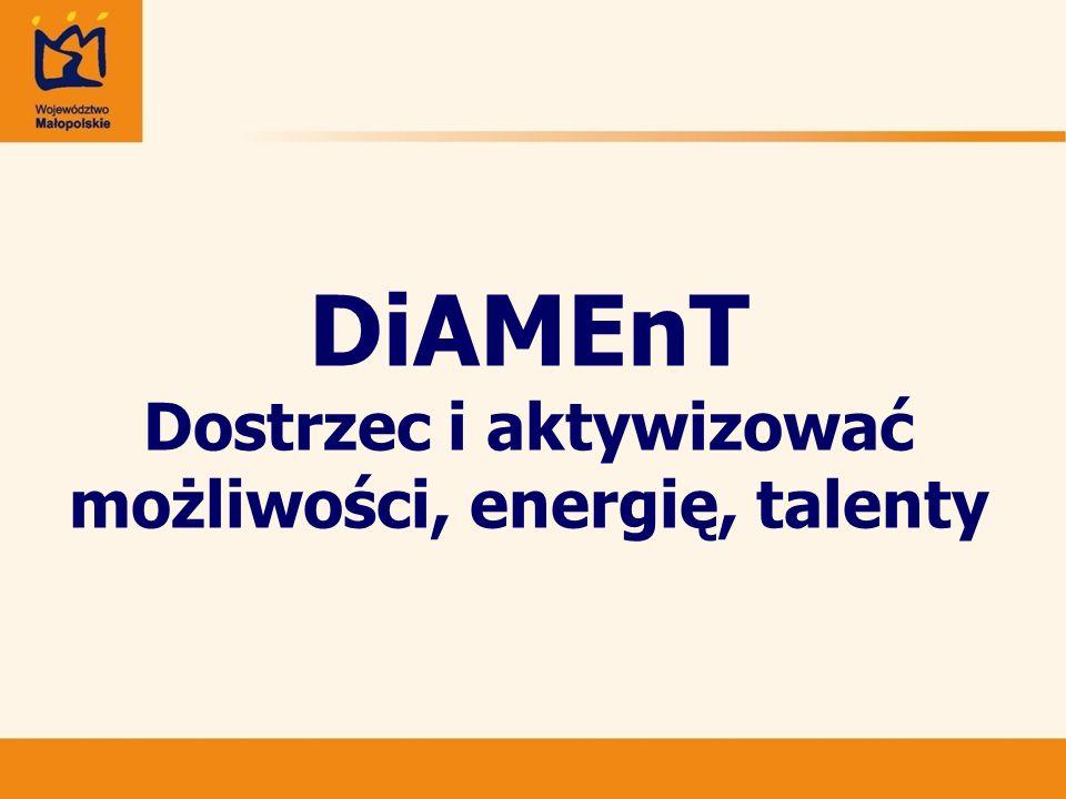 DiAMEnT Dostrzec i aktywizować możliwości, energię, talenty
