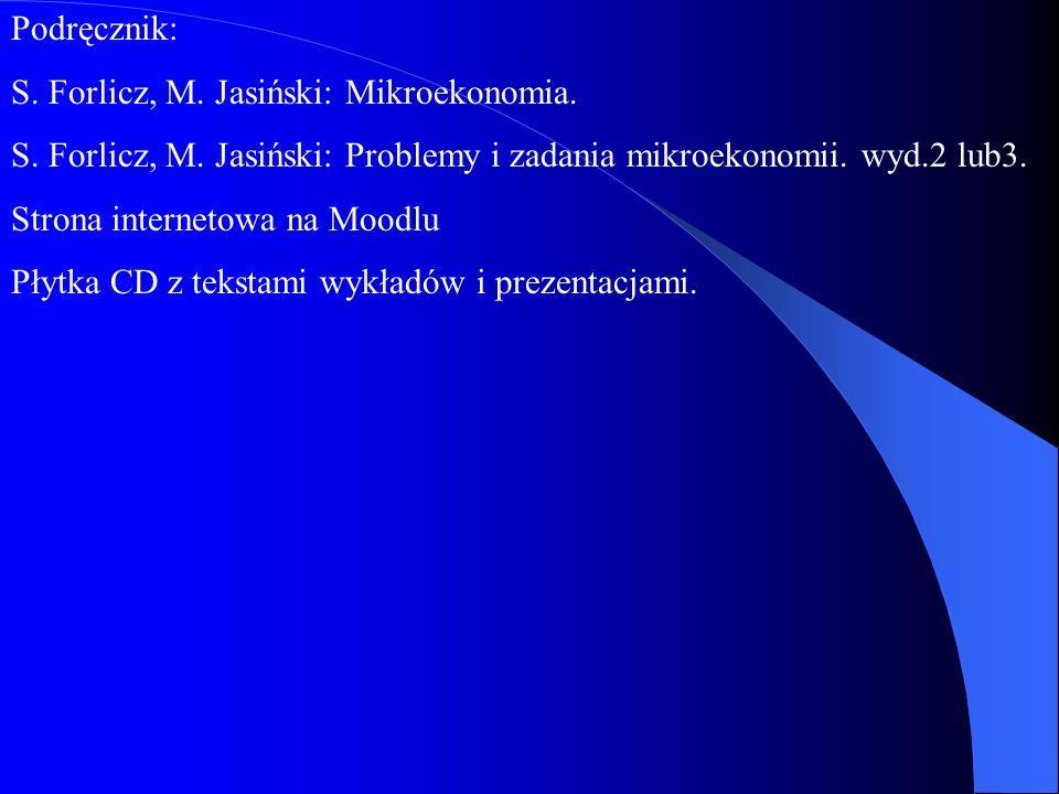 Mikroekonomia dr hab. Maciej Jasiński, prof.