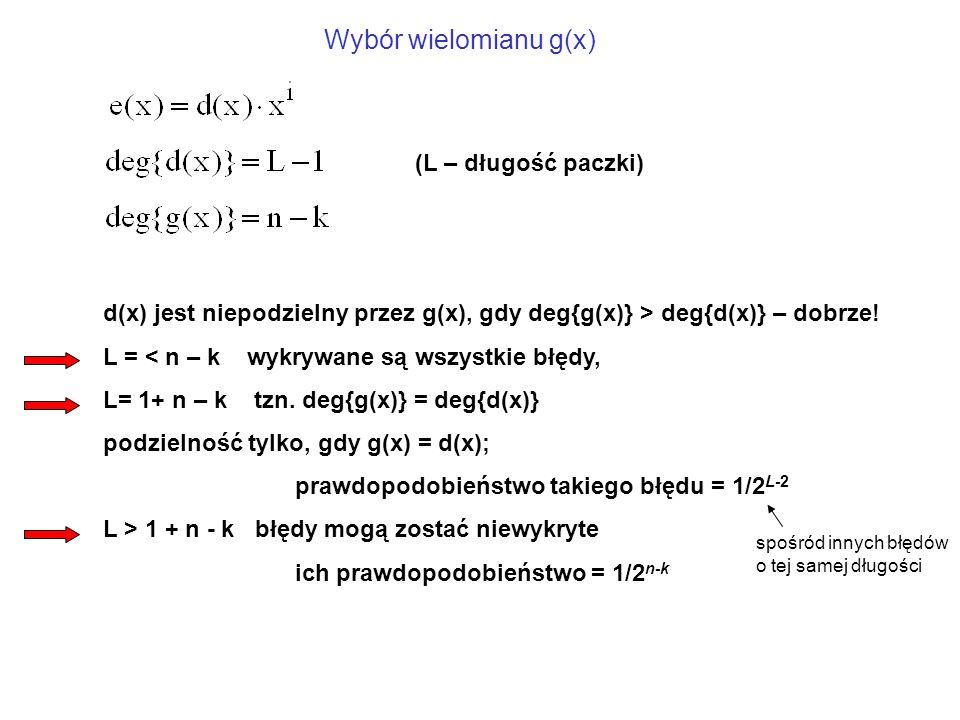 d(x) jest niepodzielny przez g(x), gdy deg{g(x)} > deg{d(x)} – dobrze.